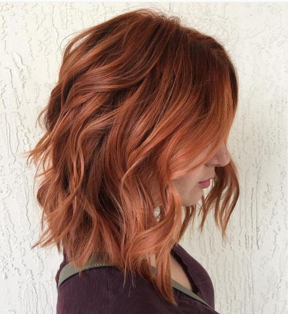 Auburn Red Lob – Hair World Magazine Inside Long Hairstyles Redheads (View 23 of 25)