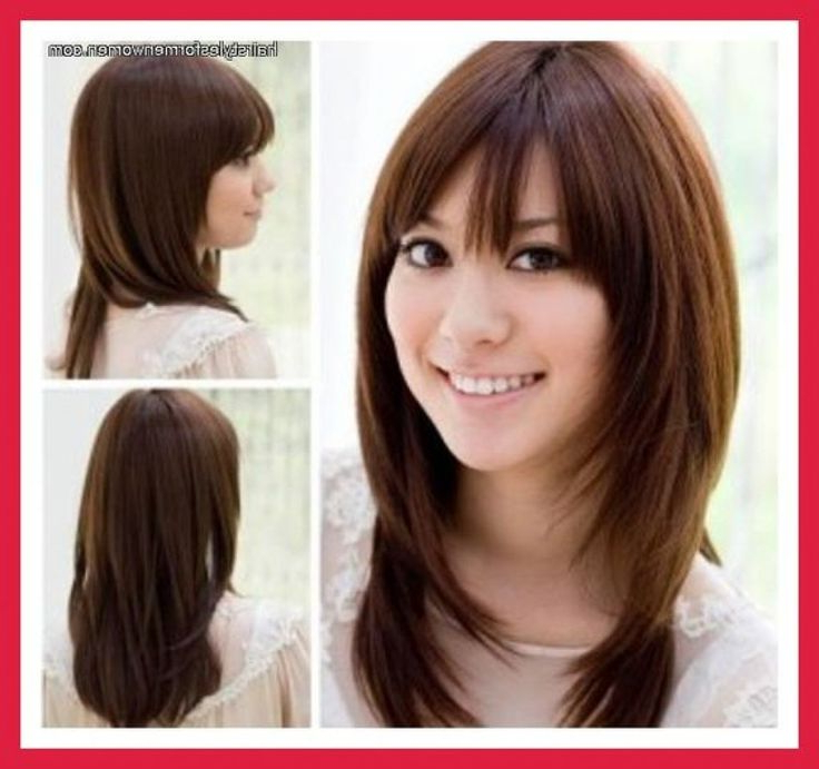 Average Long Hairstyle For Thick Hair And Round Faces – Haircutsbest Intended For Long Hairstyles For Thick Hair And Round Faces (View 7 of 25)