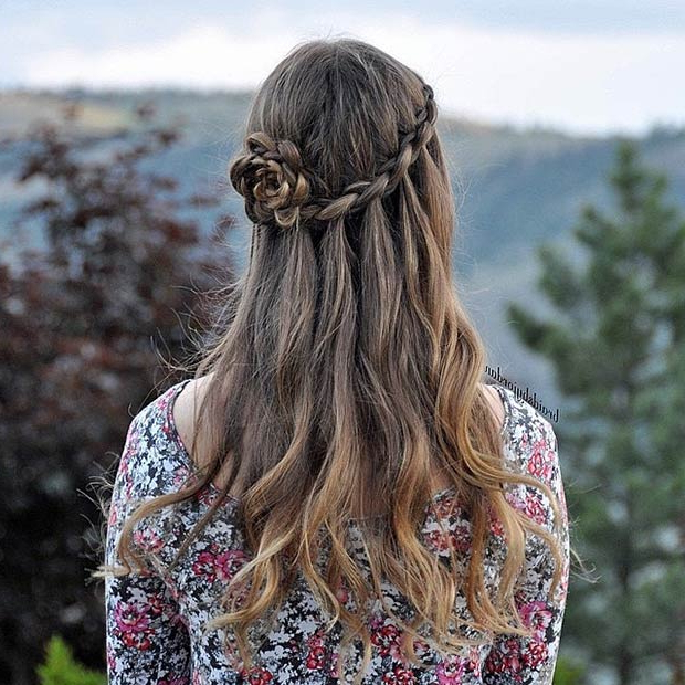 Awesome Half Up, Half Down Wedding Hairstyles To Try This Autumn With Rosette Curls Prom Hairstyles (View 17 of 25)