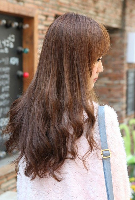 Back View Of Korean Long Hairstyle   Haircut Ideas   Long Hair Inside Long Hairstyles Front And Back View (View 14 of 25)