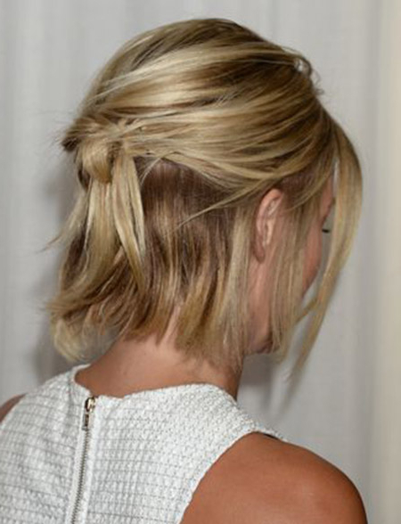 Back View Of Short Haircuts Pertaining To Hairstyles Long In Front Short In Back (View 21 of 25)