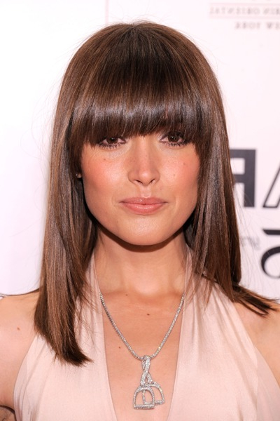 Bang Haircuts With An Oval Face – Hair World Magazine Regarding Long Hairstyles With Full Fringe (View 18 of 25)