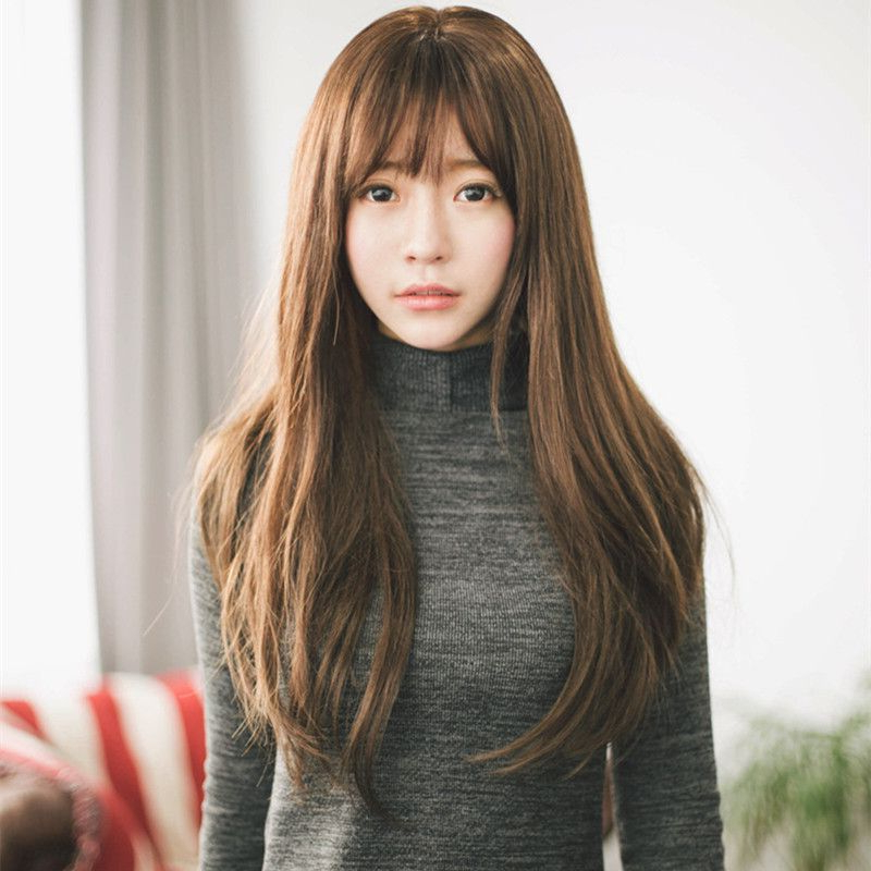 Bangs With A Wave Of Layers Hairstyles | Love Is In The Hair In 2019 With Regard To Long Layered Hairstyles Korean (View 4 of 25)