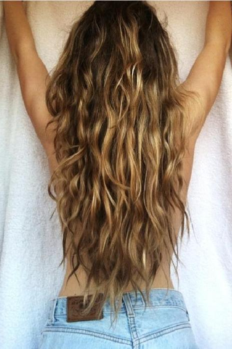 Beachy Waves!!! Back View Of Sexy Long Wavy Beach Hair – Hairstyles Within Long Hairstyles Beach Waves (View 13 of 25)