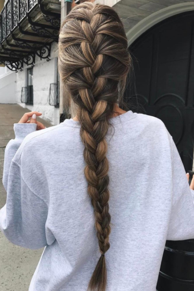 Beautiful Long Thick Braid On @cath Belle (View 21 of 25)