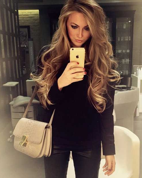 Beautiful Loose Curls With Long Hair   Hair   Curls For Long Hair Inside Everyday Loose Wavy Curls For Long Hairstyles (View 15 of 25)