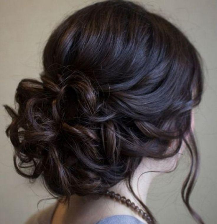 Beautiful Low Prom Updo Hairstyle With Loose Soft Curls – Long With Regard To Curled Floral Prom Updos (View 14 of 25)