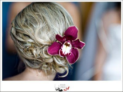 Beautiful Low Side Bun With Purple Orchid   Hairstyling/updos   Prom For Side Bun Prom Hairstyles With Orchids (View 19 of 25)