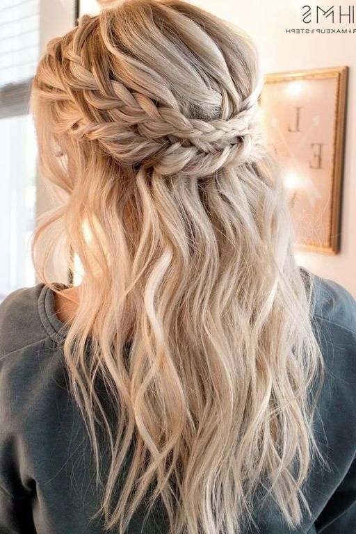 Beautiful Prom Hairstyles That'll Steal The Show | Hair | Hair Regarding Double Crown Braid Prom Hairstyles (View 1 of 25)