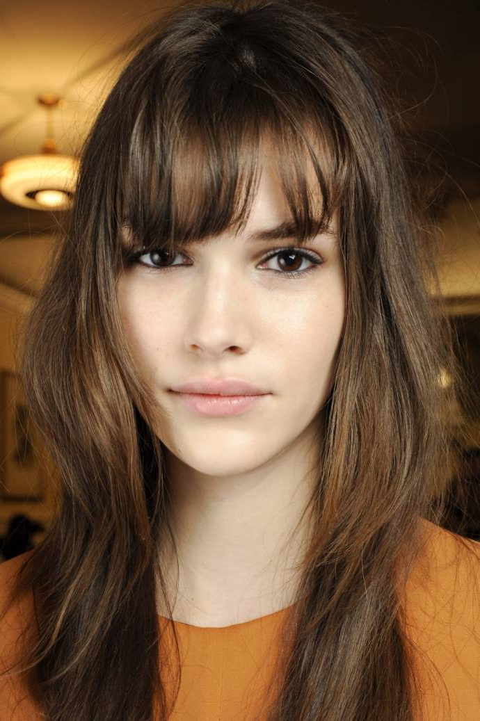 Best Bangs For Long Face 2019 – Beauty & Health Tips Inside Long Haircuts For Long Faces (View 22 of 25)