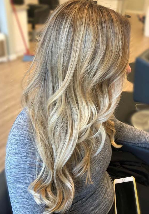 Best Blonde Hair Color Highlights For Long Wavy Hair In 2019   Modeshack With Regard To Highlights For Long Hair (View 18 of 25)