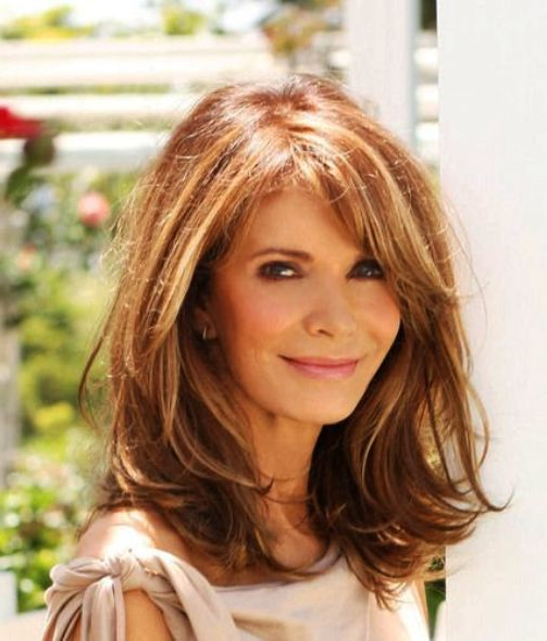 Best Hairstyles For Women Over 50 – Faceshairstylist | Hair Pertaining To Long Hairstyles For Women Over (View 4 of 25)