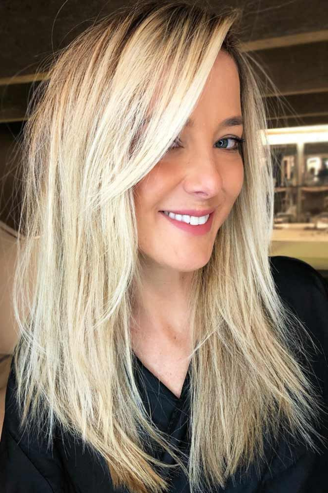 Best Hairstyles & Haircuts For Women In 2017 / 2018 : Long Layers With Regard To Long Haircuts With Side Fringe (View 17 of 25)
