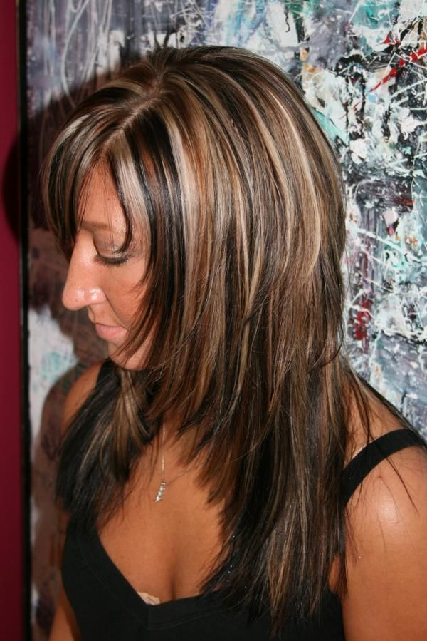 Best Medium Length Hairstyles With Highlights Throughout Long Hairstyles With Highlights And Lowlights (View 11 of 25)