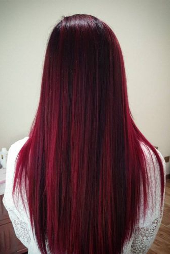 Best Red Ombre Hair Color Ideas For Long Hair ? See More: Glaminati Pertaining To Long Hairstyles Red Ombre (View 10 of 25)