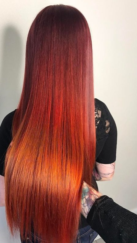 Best Red Ombre Hair Colors For 2019 – Best Hairstyle Pertaining To Long Hairstyles Red Ombre (View 25 of 25)