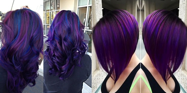 Black And Purple Hairstyles: A Gorgeous Combination! – The Haircut Web In Purple Long Hairstyles (View 7 of 25)