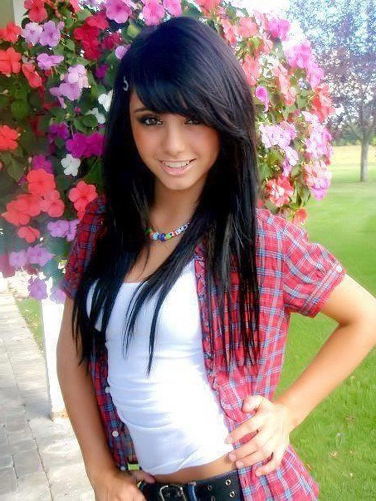 Black Layered Hairstyles With Side Swept Bangs Black Layered Pertaining To Long Hairstyles With Swoop Bangs (View 3 of 25)