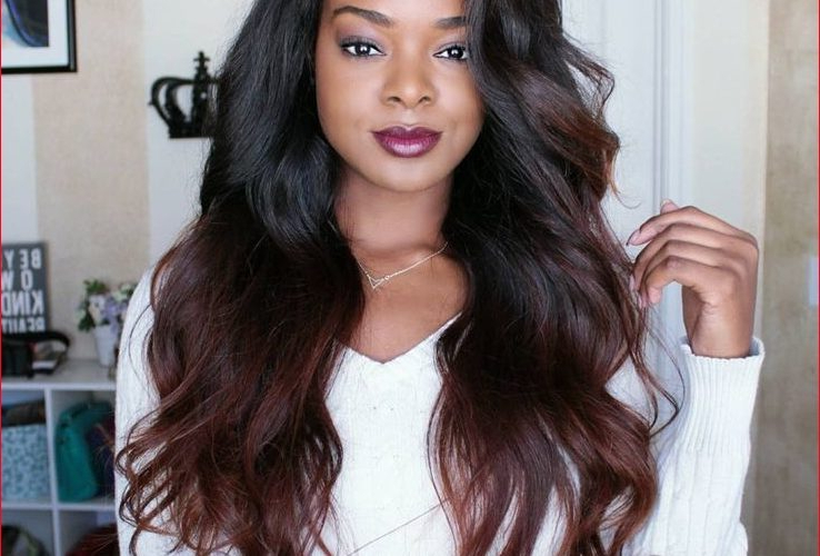 Black Long Weave Hairstyles » Best Easy Hairstyles Intended For Long Hairstyles With Weave (View 22 of 25)
