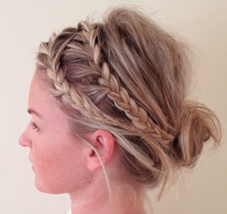 Blonde Double Braid Updo – Prom, Wedding, Party, Formal, Evening Inside Double Braided Prom Updos (View 4 of 25)