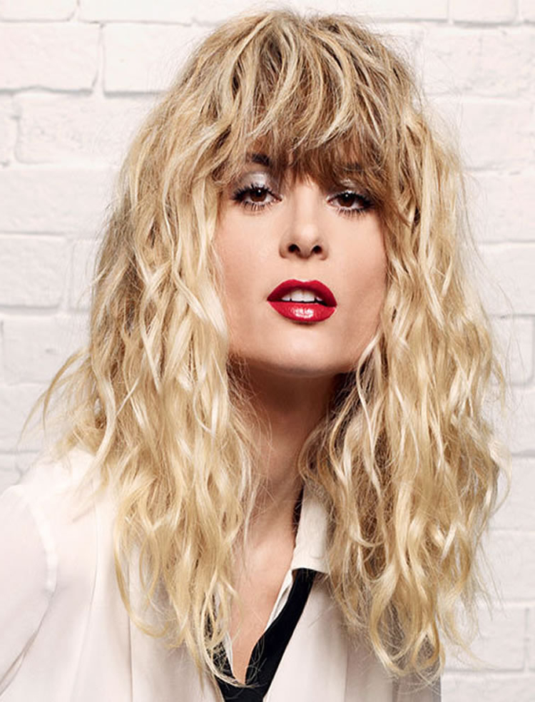 Blonde Long Perm Hair With Bangs 2017 – Hairstyles Inside Long Permed Hair With Bangs (View 6 of 25)