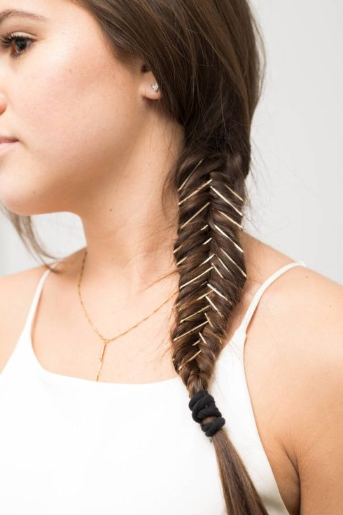 Bobby Pin, Tresse | You Tease | Bobby Pin Hairstyles, Hair Styles Inside Long Hairstyles With Bobby Pins (View 25 of 25)