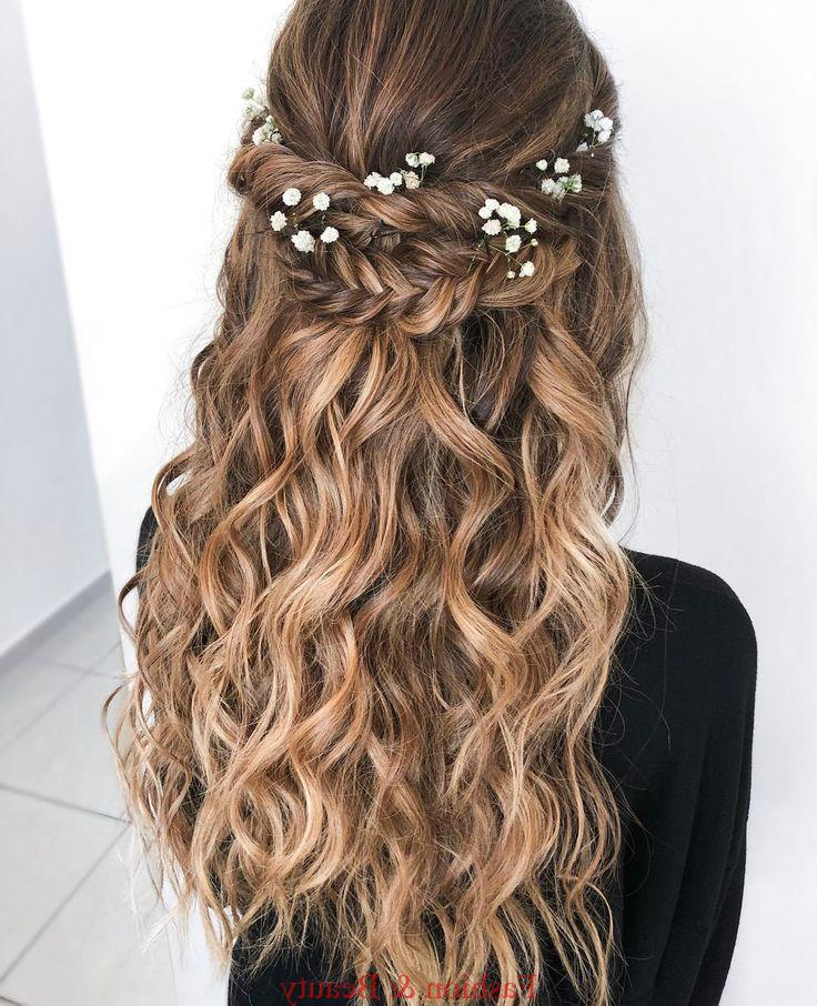 Boho Chic Wedding Hair Style For Long Hair With Flowers (View 20 of 25)