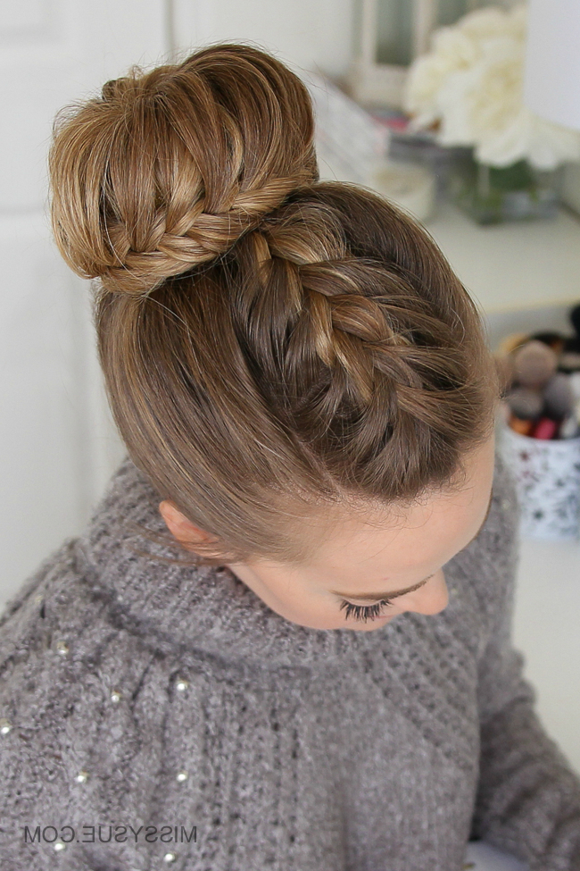 Braided Bun Archives | Missy Sue Regarding Diagonal Braid And Loose Bun Hairstyles For Prom (View 19 of 25)