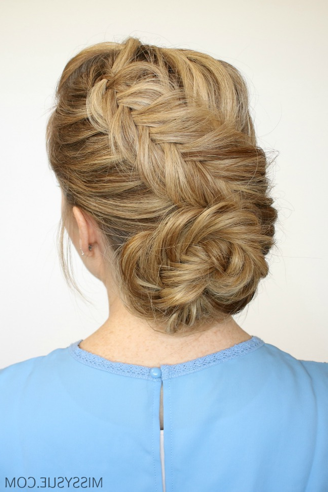 Braided Bun Archives | Missy Sue Within Formal Dutch Fishtail Prom Updos (View 7 of 25)