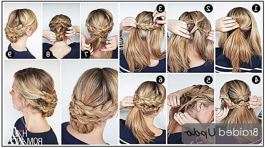 Braided Chignon Updo Hairstyle Tutorial – Prom, Wedding Within Braided Chignon Prom Hairstyles (View 25 of 25)