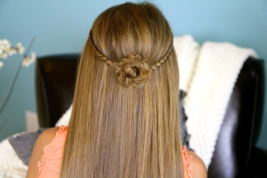 Braided Flower Tieback | Hairstyles For Long Hair | Cute Girls Intended For Cute Braided Hairstyles For Long Hair (View 22 of 25)