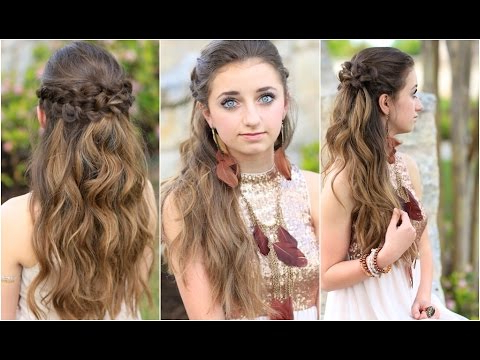 Braided Half Up | Hairstyles For Prom – Youtube Pertaining To Teased Prom Updos With Cute Headband (View 13 of 25)