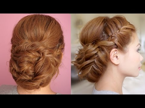 Braided Prom Updo Hair Tutorial – Youtube Throughout Accent Braid Prom Updos (View 25 of 25)