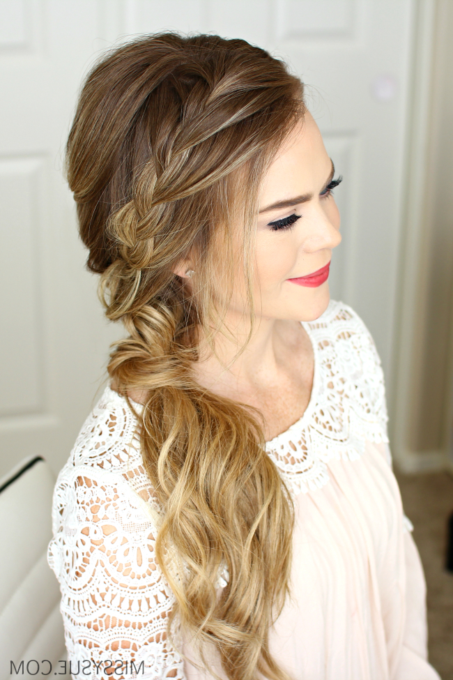 Braided Side Swept Prom Hairstyle | Missy Sue With Long And Loose Side Prom Hairstyles (View 25 of 25)