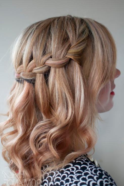 Braids For Medium Length Hair – Hair World Magazine Inside Chic Waterfall Braid Prom Updos (View 9 of 25)