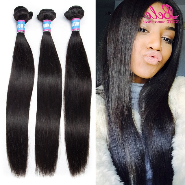 Brazilian Virgin Hair Straight Long/short Hairstyles 7A Unprocessed Throughout Long Virgin Hairstyles (View 5 of 25)