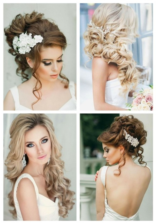 Breathtaking Wedding Hairstyles With Curls | Happywedd Inside Long Hairstyles For Wedding (View 19 of 25)