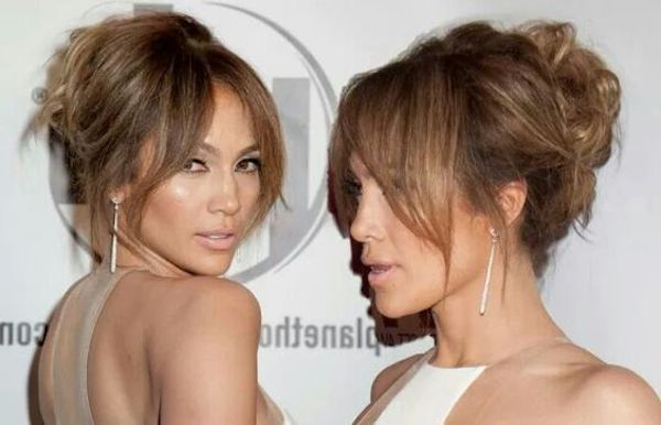 Bridal Bangs – 2018 Curtain Bangs With Wedding Updos, Loose Wavy Hair Intended For Long Hairstyles Updos With Fringe (View 19 of 25)