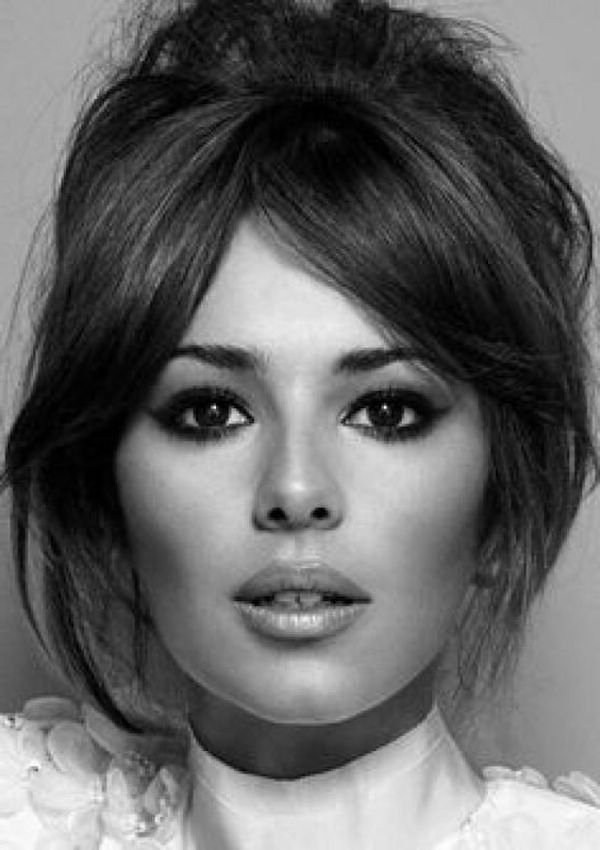 Bridal Bangs – 2018 Curtain Bangs With Wedding Updos, Loose Wavy Hair With Regard To Long Hairstyles Updos With Fringe (View 10 of 25)