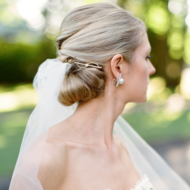 Bridal Barrettes Are The New Wedding Hair Accessory Trend You Need Pertaining To Side Bun Prom Hairstyles With Jewelled Barrettes (View 6 of 25)