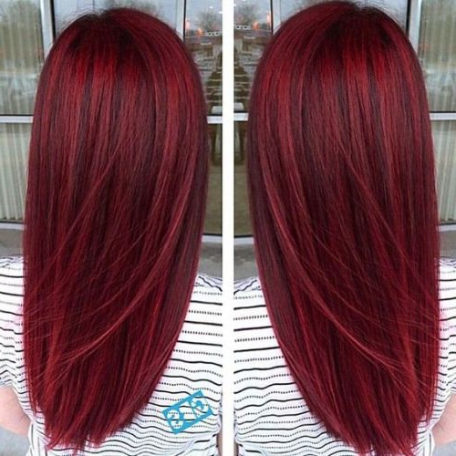 Bright Red Pretty Hair! … | Hair Style In 2019… Regarding Long Hairstyles Red Hair (View 5 of 25)