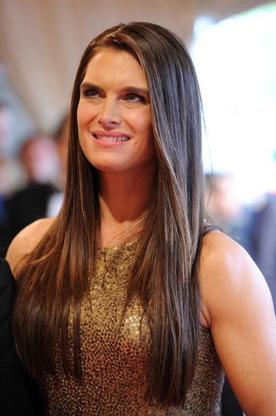 Brooke Shields' Sleek Straight Tresses | Hair Help | Hair Styles With Regard To Sleek, Straight Tresses For Long Hairstyles (View 6 of 25)
