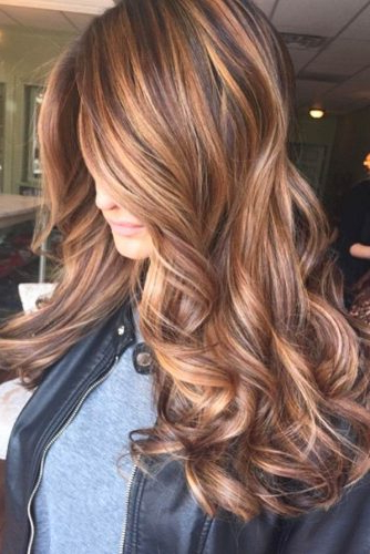 Brown Hair With Balayage Caramel Highlights – Hair World Magazine Within Warm Toned Brown Hairstyles With Caramel Balayage (View 12 of 25)