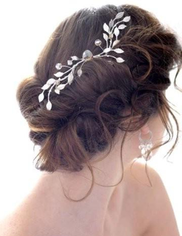 Bun Hair Model – Gorgeous Messy Side Bun Wedding Hair #797946 – Weddbook In Side Bun Prom Hairstyles With Orchids (View 12 of 25)