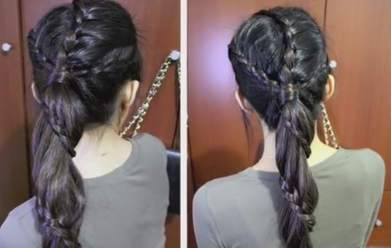 Carousel Winding Lace Braid Ponytail Hairstyle Tutorial Within Winding Waves Hairstyles (View 8 of 25)