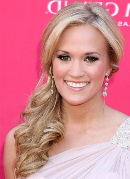 Carrie Underwood Long Hairstyles - Popular Haircuts intended for Long Hairstyles To One Side