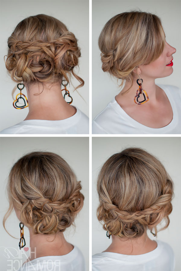 Casual Messy Braided Updo - The Best Braided Updos For Parties intended for Long Hairstyles Updos Casual