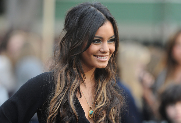 Celebrity Hairstyles: Vanessa Hudgens Long Curly Two Toned Hairstyle In Vanessa Hudgens Long Hairstyles (View 19 of 25)
