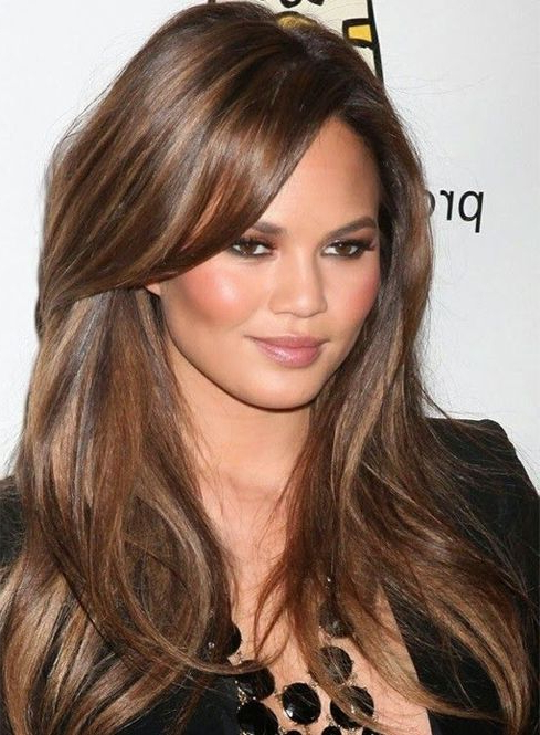 Celebrity Long Hairstyles With Side Swept Bangs | Long Hairstyles with Long Hairstyles Celebrities