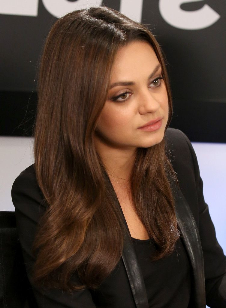 Center Part Hairstyles Unique Mila Kunis Long Center Part Beauty For Mila Kunis Long Hairstyles (View 9 of 25)